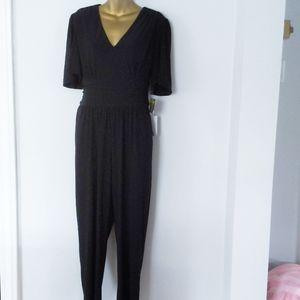 Taylor black jumpsuit size 12 new